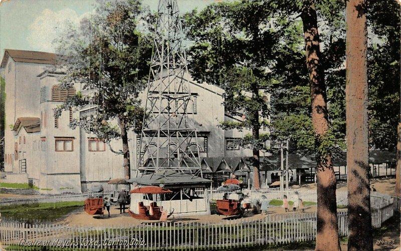 LP02   Meyers Lake Canton Ohio Postcard Theatre Amusement Park
