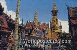Wat Pra Keo, Emeral Buddha Temple Bangkok Thailand 1972