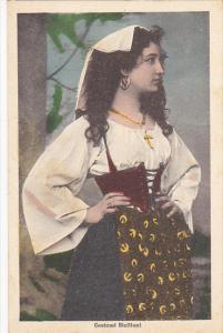 Italy Costumi Siciliani Girl In Typical Costume