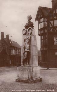 Edith Cavell Memorial Norwich Real Photo 92707 RPC Old Postcard