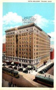 Ohio Toledo Hotel Waldorf Curteich