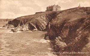 Newquay Atlantic Hotel War Memorial Cross Cliffs