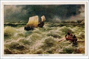 Rough Weather on Water - Boats