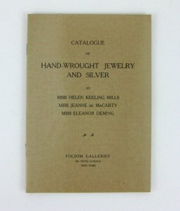 1910s Folsom Galleries Catalogue Jewelry Silver Mills de MaCarty Deming New York