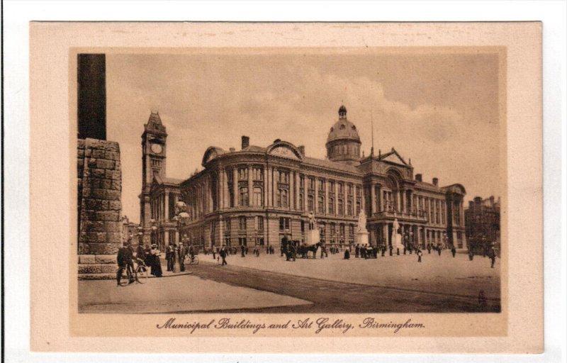 BIRMINGHAM, England, 1900-1910's; Municipal Buildings And Art Gallery