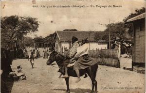 CPA Senegal Fortier 495. Afrique Occidentale-En Voyage de Noces (235260)