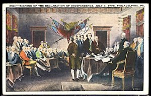 USA Signing The Declaration of Independence Philadelphia 1776 CDS 1938