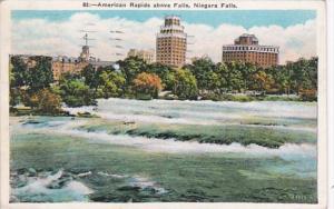 New York Niagara Falls American Rapids Above The Falls 1938