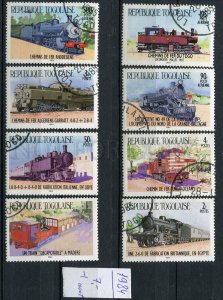 266189 TOGO 1984 year used stamps TRAIN locomotives