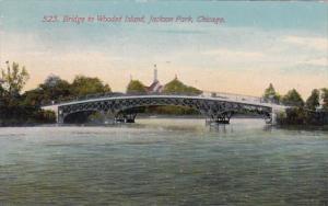 Illinois Chicago Bridge To Wooded Island Jackson Park 1912