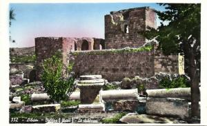 lebanon, BYBLOS GEBAL, The Castle (1950s) RPPC