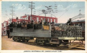 Seeing Montreal By Observation Car Québec, Canada Vintage Postcard 1930