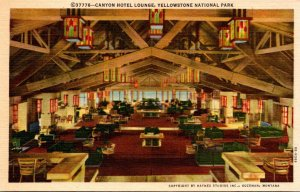 Yellowstone National Park Canyon Hotel Lounge Curteich