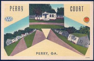 Perry Motor Court Perry Georgia unused c1930's