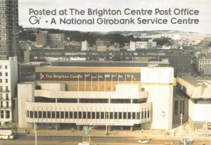East Sussex Postcard, Posted at The Brighton Centre Post Office Royal Mail GN8