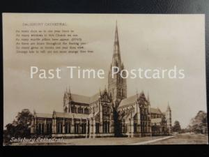 Vintage PC - Salisbury Cathedral - 'As Many days as in year there be' etc