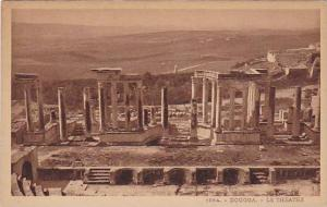 Le Theatre, Dougga, Tunisia, Africa, 1900-1910s