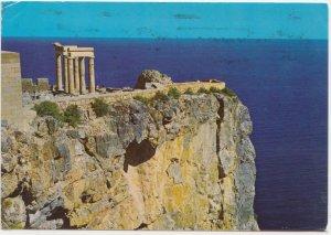 Greece, RHODES, Acropolis of Lindos, used Postcard