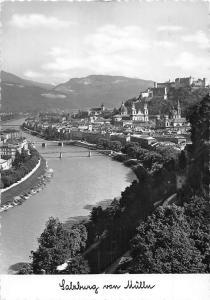 Salzburg von Muelln Bruecke Bridges River Pont Panorama