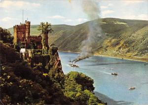 GG14024 The Rhine Rheinstein Castle, Burg Schiff Boats Panorama
