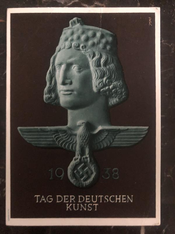 1938 Munich Germany picture Postcard  Propaganda cover German Art festival b