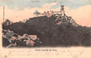 Portugal Old Vintage Antique Post Card Castello da Pena Cintra Postal Used Un...