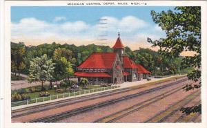 Michigan Central Railroad Depot Niles Michigan 1947