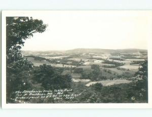 old rppc NICE VIEW Table Rock At Oakland - Near Cumberland Maryland MD i8767