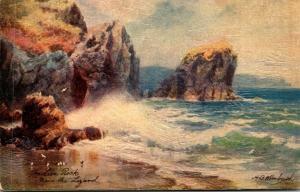 Tucks Cornwall Series The Lion Rock