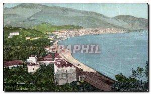 Old Postcard Menton Seen from Cap Martin