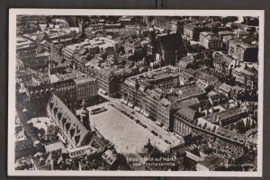 Aerial View Of Leipzig Thomas Church - Real Photo - Writing But Not Posted