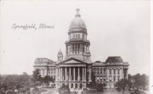 Illinois Springfield State Capitol Building Real Photo