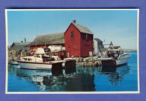 Rockport, Mass/MA Postcard,Sport Cruisers At Bradley's Wharf