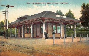 Capitola CA Southern Pacific Railroad Depot Train Station Postcard