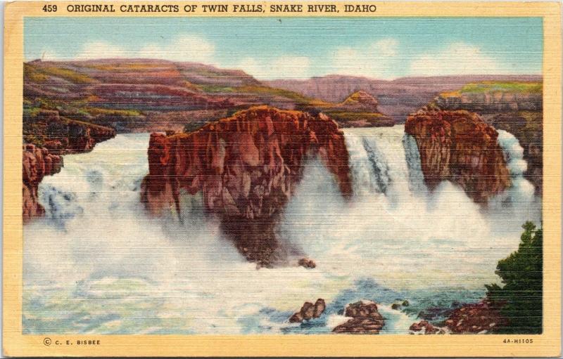 Original Cataracts of Twin Falls, Snake River, Idaho