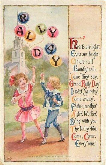 Rally Day,Children with Balloons, Goodenough & Woglom No. 22