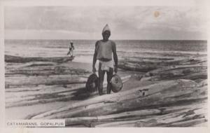 Catmarans Gopalpur Indian Real Photo Old Postcard