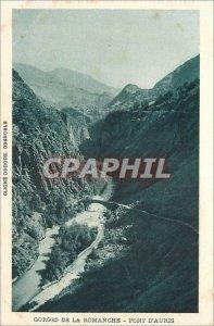 Old Postcard Gorges of the Romanche bridge of Auris