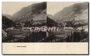 Stereoscopic Card - Valley of Gedre - Old Postcard