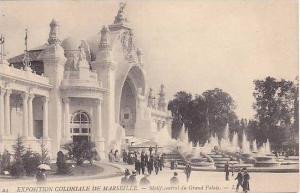 Exposition Coloniale de Marseille, Motif central du Grand Palais, Province-Al...