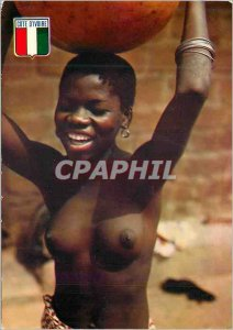 Modern Postcard Republic of Cote d'Ivoire smile of the Ivory Coast