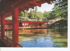 Postal 031945 : The corridor & the arched bridge in Itsukushima Shrine: Miyaj...