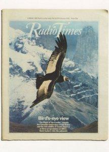 Radio Times The Flight Of The Condor Bird Documentary Postcard