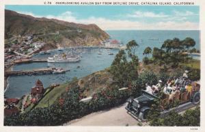 CATALINA ISLAND, California; Overlooking avalon Bay from Skyline Drive, 1910-20s