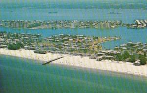 Florida Clearwater Beach Aerial View Overlooking Palm Pavilion Beach and Pier