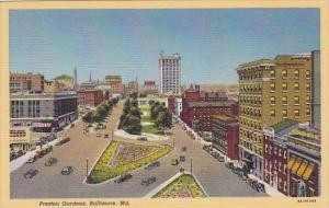 Preston Gardens Baltimore Maryland