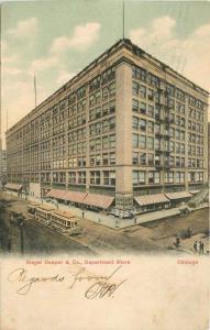 1906 Siegel Cooper & Co Department Store Trolleys Postcard Teich postcard 11243