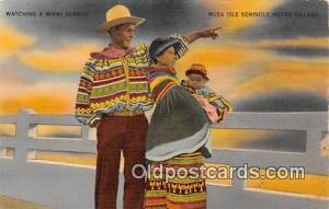 Seminole Indians Postcard Miami, FL, USA Musa Isle Seminole Indian Village