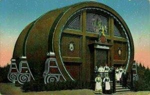 Germany Leipzig Entw Arch H. Kunze Riesenfass Big Barrel Postcard
