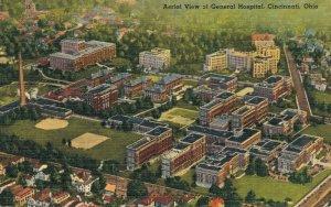 USA - Aerial View of General Hospital Cincinnati Ohio 04.26
